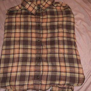 plaid button up shirt!!